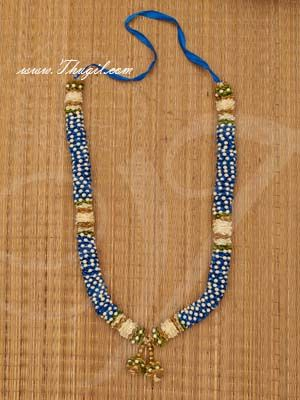 Blue color Synthetic Garland.