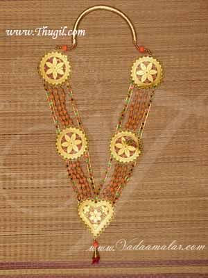 """36"""" Fancy Sandal Garland Design Colour Maala for VIP and Chief Guests Buy Online"""