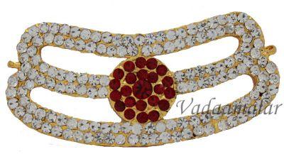 Tripundra Symbol Jewelry Ornament Vibuthi Patta Pattai Statue Diety Amman Jewellery