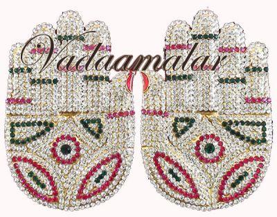 Swami Lord Vishnu Devi Hand alankaram Palm Deity Temple Jewelry Ornaments Buy Online