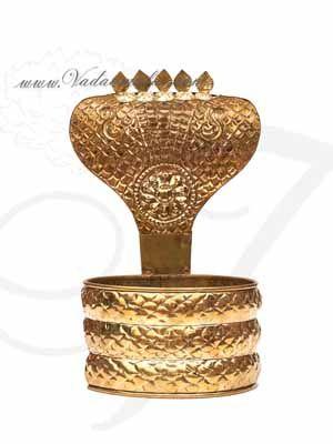 "21"" tall Brass Nagabharanam Buy Online Siva Shiva Lingam Snake Decoration"