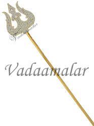 "Trishul Thiri Soolam For Amman Shiva Parvathi Ganesha Symbol Weapon Buy Now 20"""