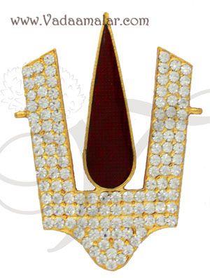 Vishnu Namam balaji Nama Symbol Jewelry Ornament Statue Diety Jewellery