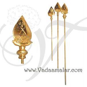 3 feet Vel for Murugar Murugan Shakti Brass Metal Symbol weapon Online
