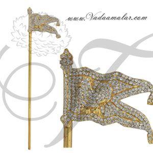 "16"" Kodi Flag Lord Murugan Subrahmanya Symbol Jewelry Buy Deity Ornaments Online"