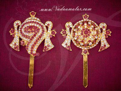 Buy Online Shanku chakra PERUMAL ornaments Vishnu Balaji Deity Ornament Decoration for Temple