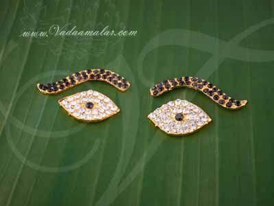 "Eyes and Eyebrow  Kanmalar Amman Hindu Goddess Buy Online 1"""