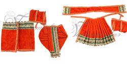 """6""""-8"""" Radha Krishna Murthi Idol Costume Dresses and Accessories"""