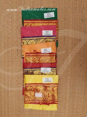 5 colour Skirt Pavadai Dress Amman Durga Devi Shakthi idols staues