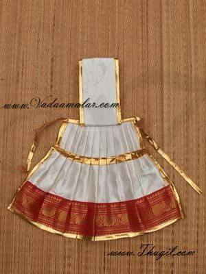 Buy Online Temple Statue Wear White Color Saree for Hindu  Deity