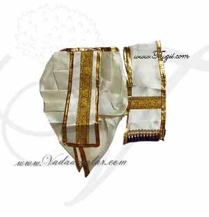 "1""-7""Krishna Ganesha Murugan Murthi Idol Panjakajam Dothi model Costume Dress"