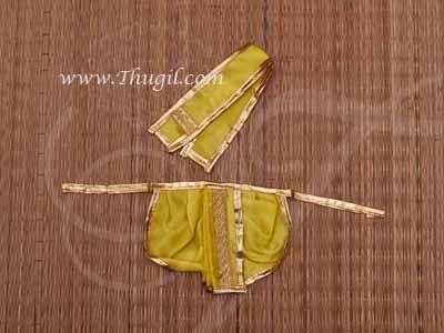 Medium size Deity Krishna Ganesha Murugan Murthi Idol Panjakajam Dothi model Costume Dress
