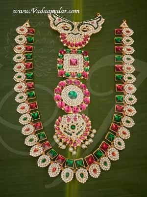 """Haaram Large Hindu Idol Ornaments Step Necklace Jewellery Buy Online 12"""""""