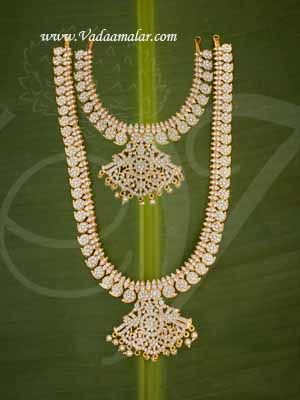 Haaram 2 Step Necklace For Hindu Idol Ornaments Buy Now 13 Inches