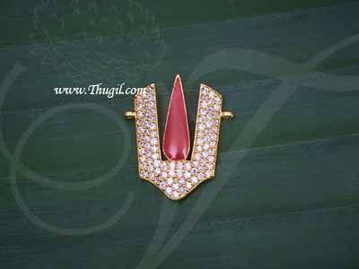 "0.9"" Vishnu Namam balaji Nama Symbol Jewelry Ornament Statue Diety Jewellery"