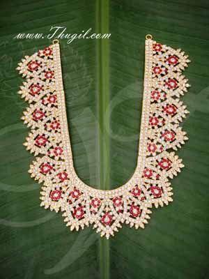"Haaram Hindu Idol Statue Kavasam Necklace Temple Jewellery Buy Now 9"""