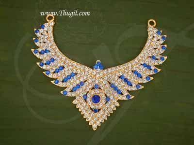 "Necklace For Hindu Idol Ornaments Haaram Jewellery Buy Now 3.5"""