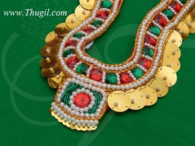 """Hindu Diety Necklace Chest Accessories God Sringaar Decoration 11"""" Inches"""