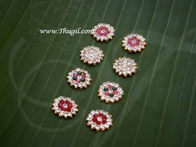 "0.6"" Pottu Thilangam Tikka Jewelry for forehead Statue Hindu Idol buy now"