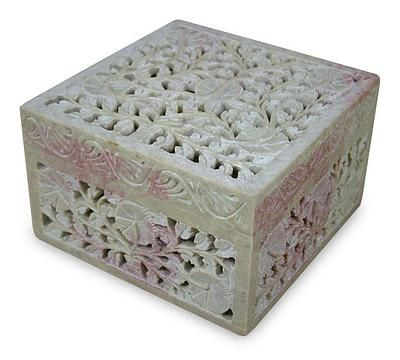Floral Carved Jewelry Box