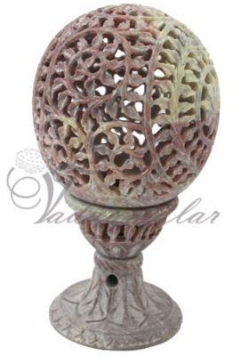 Soapstone Carving Lamp Shade