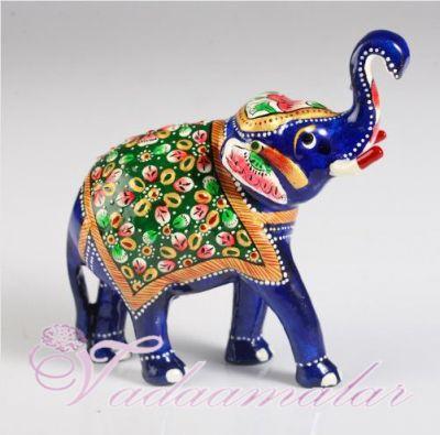 Attractive Meenakari Elephant Doll