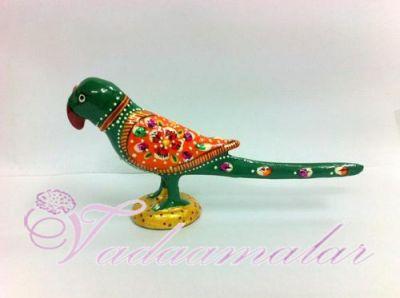 """1.8"""" Beautiful Meenakari Enamel Design Parrot Buy Now"""