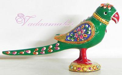 """3"""" Colorful Attractive Meenakari Parrot"""