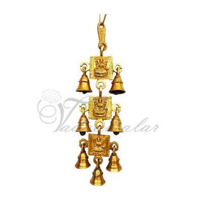 Decorative brass metal maa laxmi hanging bells
