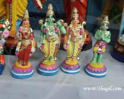 Rama Sita Hanuman & Lakshmanan paper mache doll Buy Online