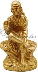 Lord Shirdi Sai Baba Brass Statue In Sitting Posture
