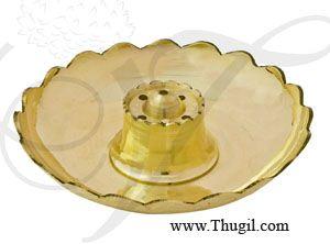 Beautiful Brass Flower Shaped Indian Agarbatti Stand Holder