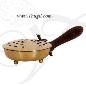 Large Brass Sambrani Dhoobakkal Dhoop Stand Wooden Holder Buy Now