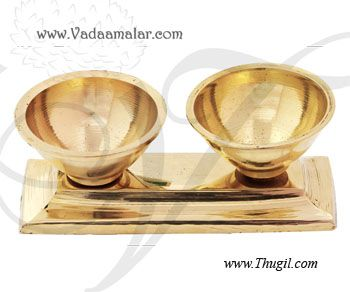 "1"" Brass Kumkum gift holder box"