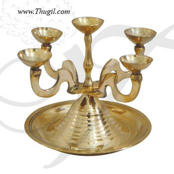 Pancha Aarati Deepam - Brass Statue
