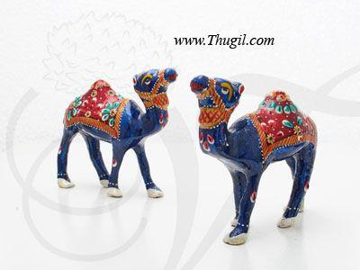 Meenakari Paint Design Camel Statue
