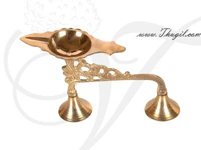"3.2"" Brass Aarti Dhoop Single Pooja Arti"