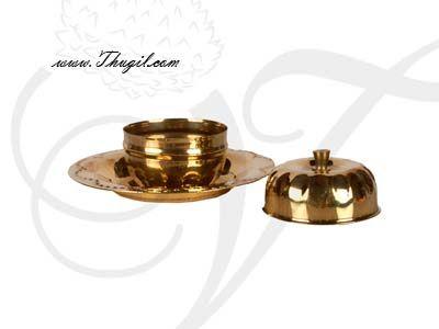 "1.8"" Brass Kumkum Gift Holder Box"