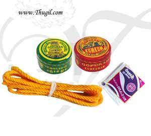 6 sets Manjal Thread KumKum Turmeric Paku Set Thamboolam Gift Buy Now