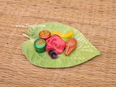 Leaf KumKum Turmeric Box Thamboolam Gift Set Buy Now