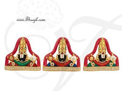 "2.8"" Sri Venkateswara Lord Balaji Deity Desktop Car Statue"