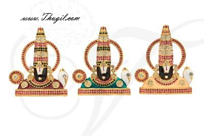 "3"" Sri Venkateswara Lord Balaji Deity Desktop Car Statue"