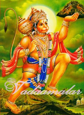 Hanuman with Mountain Picture Gift Photo Card
