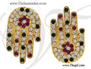 Swami Lord Vishnu Devi Hand alankaram Palm Hastham Deity Temple Ornaments Buy Online