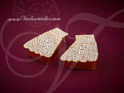 """2.2"""" Deity Feet Decoration Paatham Gods and Goddesses Temple Ornaments Buy Online"""