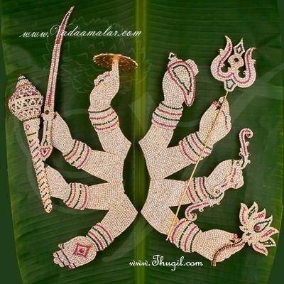 Devi Amman Alankaram Hastham with Lotus Goddesses Durga Temple Ornaments Buy Online