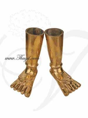 6 inches Ashtapatham Paatham Leg Feet in Brass for Hindu God Legs Buy online
