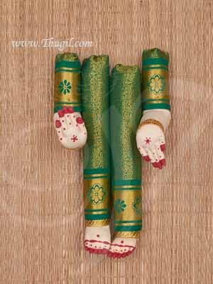Hand and Legs for Goddess Lakshmi VaraLaksmi with Zari Decoration Shop Online