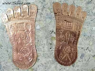 "Venkateswara Swamy Paduka In Pure Copper Buy Online 5"""