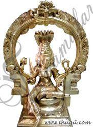 """8"""" Goddess Karumariamman Statue Brass Statue"""